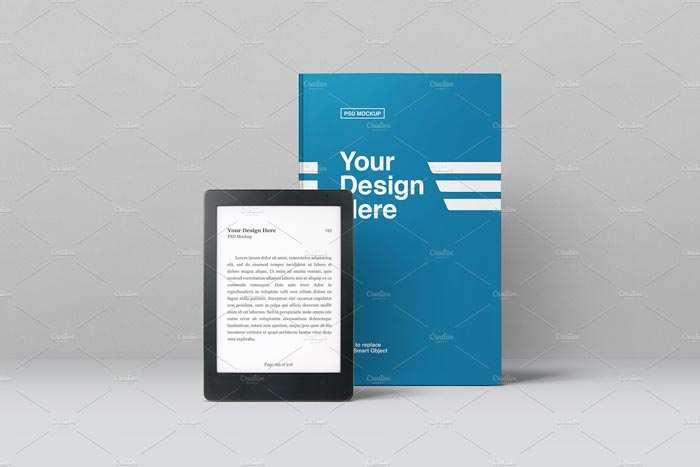 Plantilla de Ebook Mockup PSD Kindle