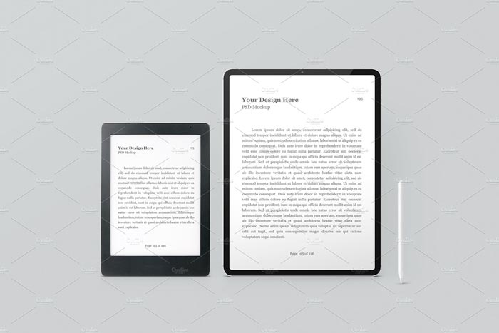 E-Book Reader & Tablet Mockup