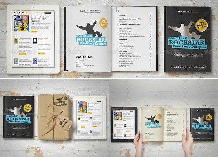 eBook Mock-Up Set Soft & Hard Cover Edition