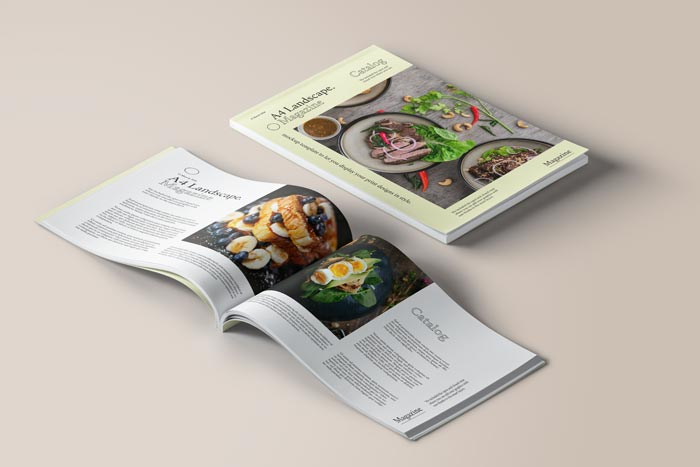 a4 landscape magazine mockup
