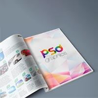 magazine advertisement mockup psd