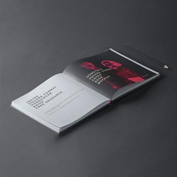 square psd hardcover book mockup