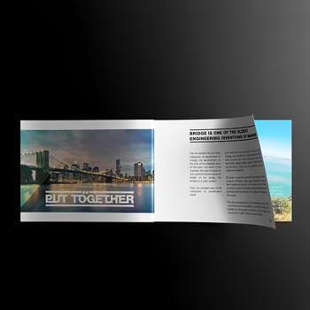 landscape magazine mockup template