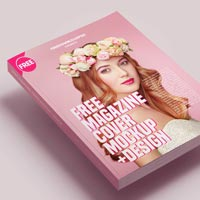 free magazine cover mockup design