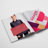 free modern open magazine mockup psd
