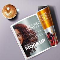 free magazine-mockup-psd