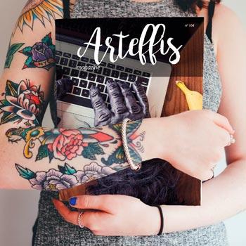 Free Magazine Mockup tattooed woman