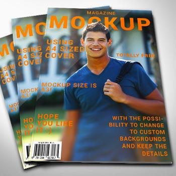 Magazine Cover Mockup photoshop