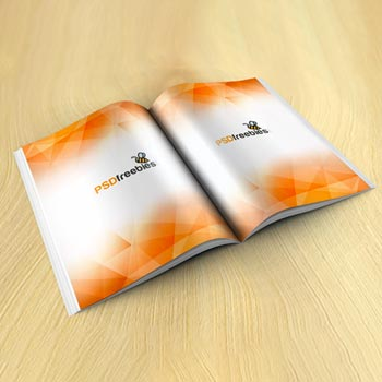 brochure magazine mockup free psd