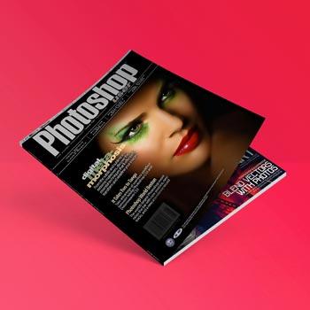 free flat magazine mockup psd