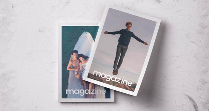 psd magazine mockup free