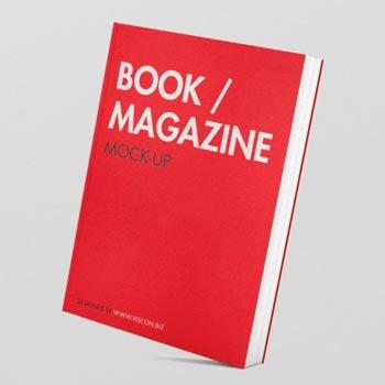 book magazine mockup free