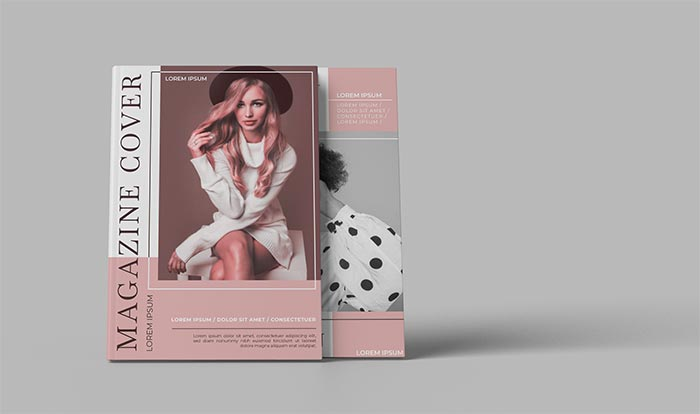 square catalog magazine mockup