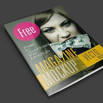 magazine mockup psd freebie