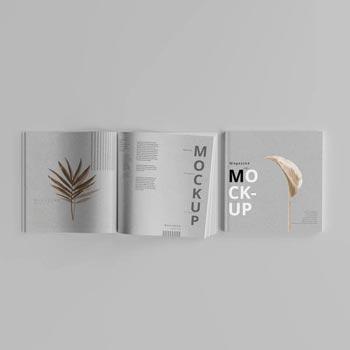 free magazine page layout mockup psd