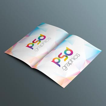 open brochure mockup template