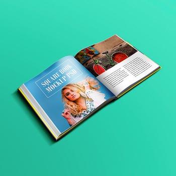 freebie square book mockup psd