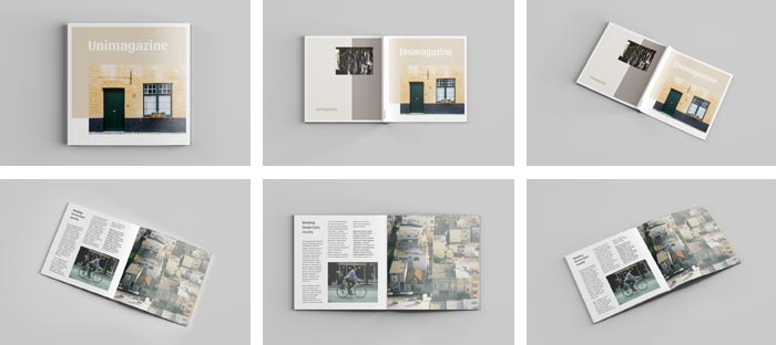 square magazine free mockup