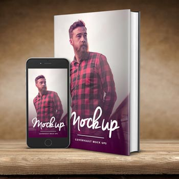 Plantilla Gratis de Ebook PSD con iPhone