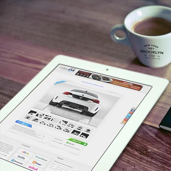 Good Morning iPad, Cup Logo & Notebook Logo mockup