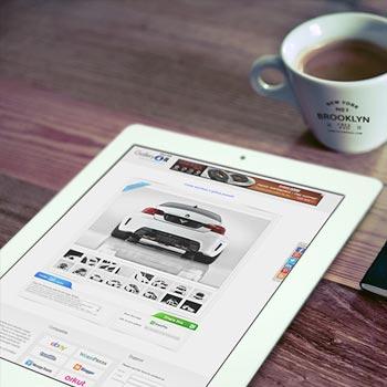 Good Morning iPad, Cup Logo & Notebook Logo mockup