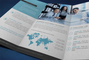 GLOBAL BUSINESS TRIFOLD BROCHURE
