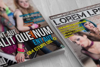 Grunge Music Magazine Cover