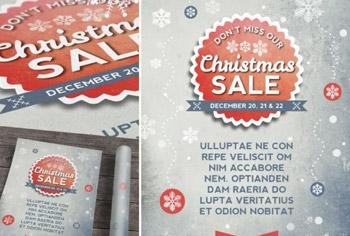 InDesign Retro Christmas Flyer